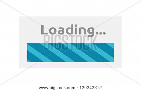 Loading Icon. Loading progress bar design style. Download and loader, progress bar website, upload interface, web indication, load internet vector illustration
