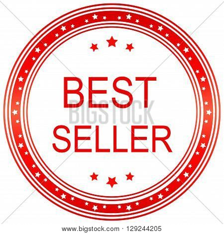 Best seller. Best seller seal. Best seller sticker. Vector image.