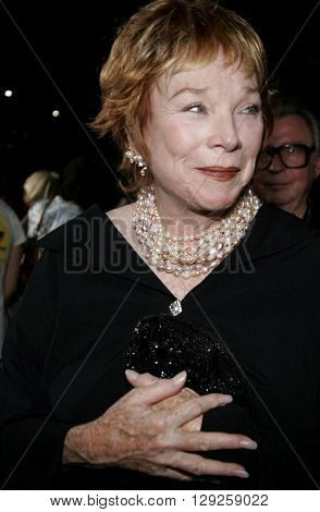 Shirley MacLaine at the Los Angeles premiere of