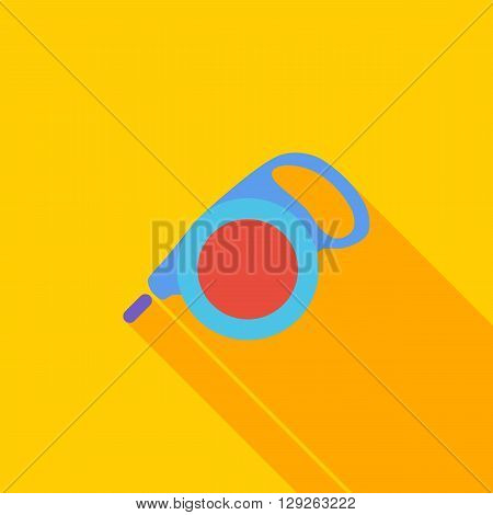 Retractable lead icon. Flat vector related icon with long shadow for web and mobile applications. It can be used as - logo, pictogram, icon, infographic element. Vector Illustration.
