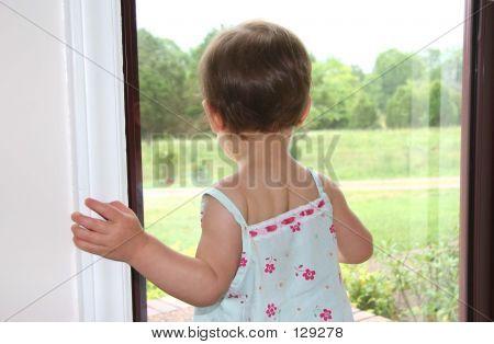 Girl Window Looking
