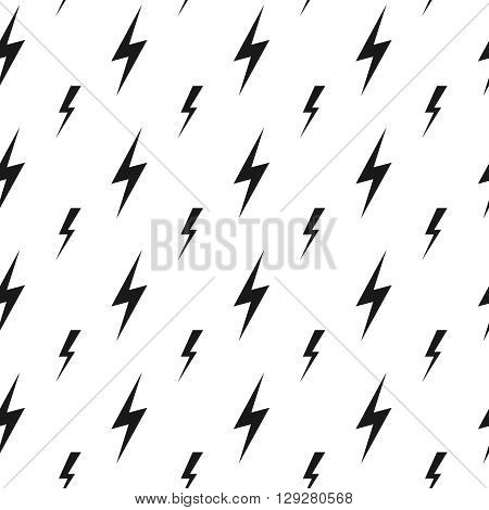 Lightning bolts, thunderbolts vector seamless pattern. Thunder  bolt pattern, thunder bolt lightning pattern, energy thunder bolt pattern illustration