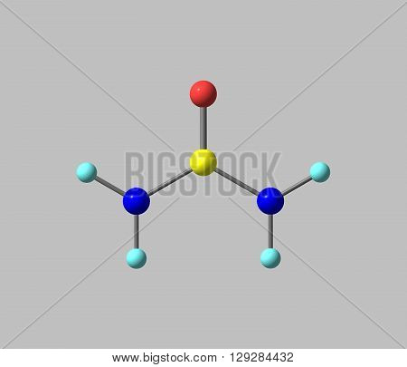 Urea - carbamide - is an organic compound with the chemical formula CONH22. 3d illustration