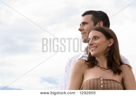 Couple Looking  Ahead