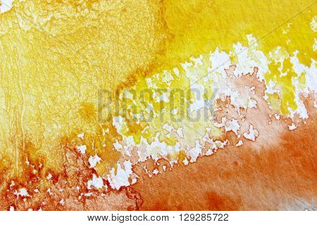Orange and Yellow Watercolour Background 6
