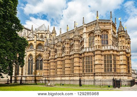 The Henry VII Chapel at the east end of Westminster Abbey. London England UK