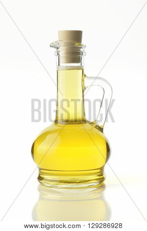 Cooking Oil on White Background shot in Studio