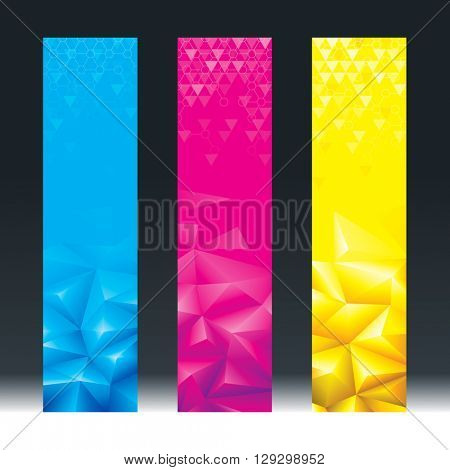 Abstract geometric background vertical banners.