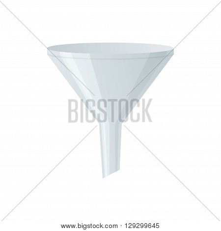 Filter vector icon. Isolated funnel on white background. Filter vector illustration.