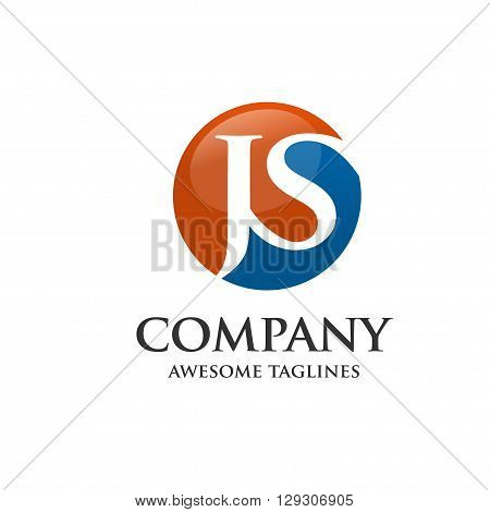letter J and S icon vector, J, S, Letter J,js letter vector