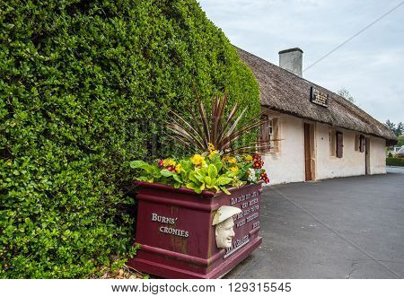Burns Cottage Alloway, the cottage housing the national museum to Scots poet Rabbie Burns