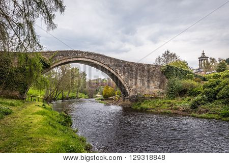 On the Banks of River Doon in Alloway, Scotland