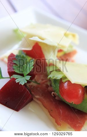 No Bread Sandwich with Pickled Beetroot 2