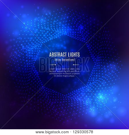 Background abstract blue vector, Octagonal 3D geometric shape on a light background. Design elements, Template for brochures banners flyers website covers catalog