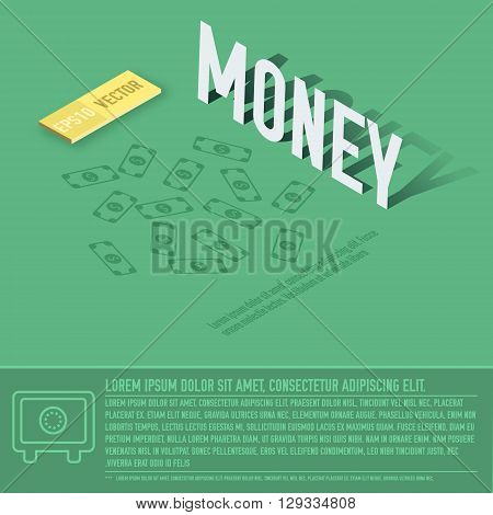 Money Business Vector Background Concept. Illustration Design