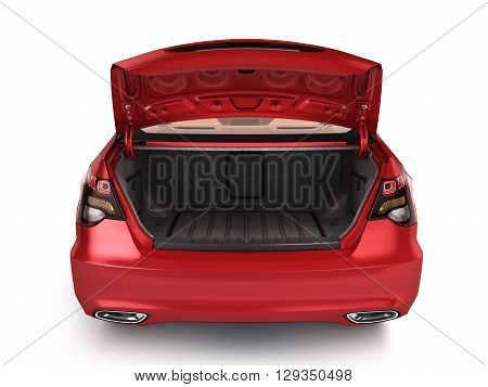 Empty Open Trunk Of A Car 3D Render