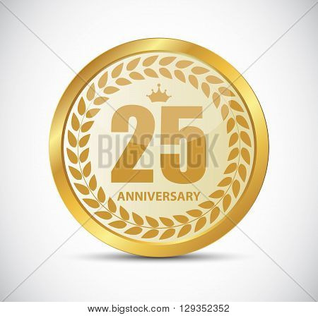 Template Logo 25 Years Anniversary Vector Illustration EPS10