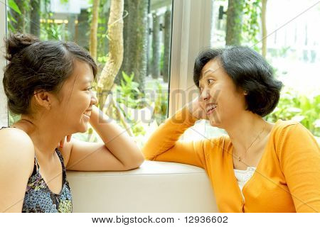 Asian Mother And Daughter Closeness