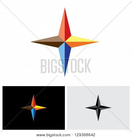 colorful plus vector logo icon in eps 10 format