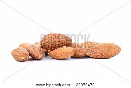 Almonds Salted isolated on a white background.