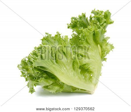 Fresh lettuce saladFresh vegetable salad isolated on white background.