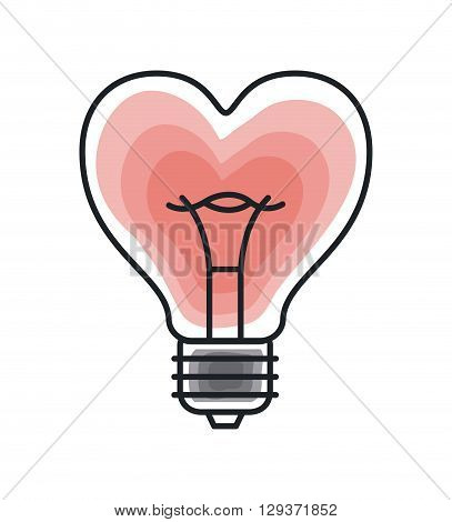 bulb light icon  design, vector illustration eps10 graphic