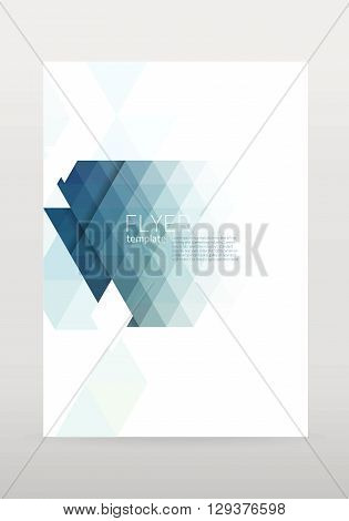 Vector brochure geometric flyer template. Template design