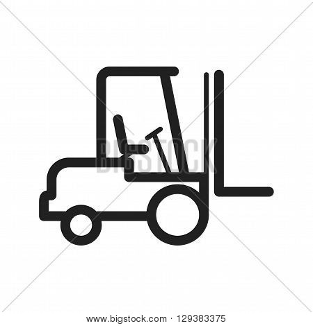 Fork, lift, shipment icon vector image. Can also be used for logistics. Suitable for mobile apps, web apps and print media.