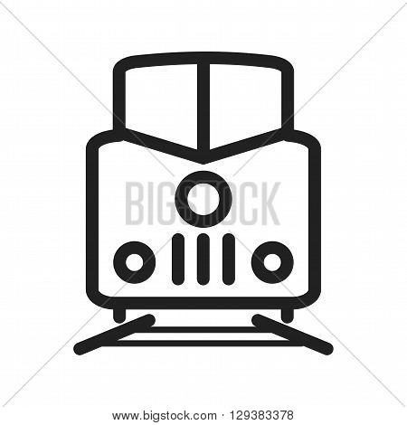 Railway, cargo, locomotive icon vector image. Can also be used for logistics. Suitable for mobile apps, web apps and print media.
