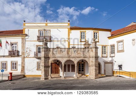 Grao-Prior Veranda in Crato, Alto Alentejo, Portugal. This veranda was the stage of the marriage of King Dom Manuel I, the most important king of the Sea-Discoveries Era in the 15th and 16th century.
