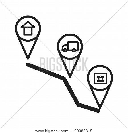 Delivery, package, service icon vector image. Can also be used for logistics. Suitable for mobile apps, web apps and print media.