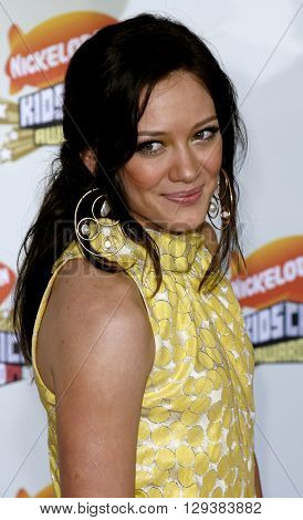 Hilary Duff at the Nickelodeon's 20th Annual Kids' Choice Awards held at the Pauley Pavilion in Westwood, USA on March 31, 2007.