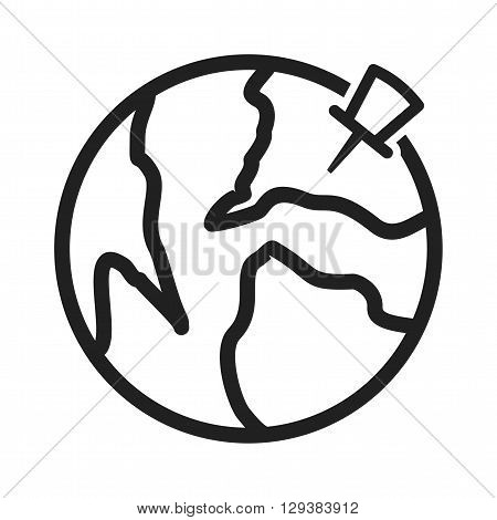 Point, pin, location icon vector image. Can also be used for logistics. Suitable for mobile apps, web apps and print media.