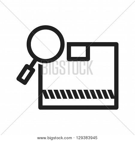 Find, package, logistics icon vector image. Can also be used for logistics. Suitable for mobile apps, web apps and print media.