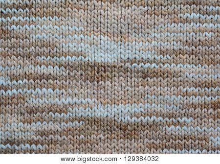 Melange Knitting Wool Texture Background