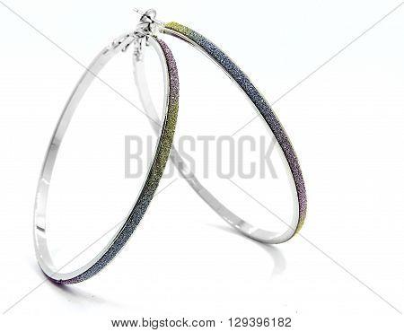 Hoop Earrings - White Background - Jewellery