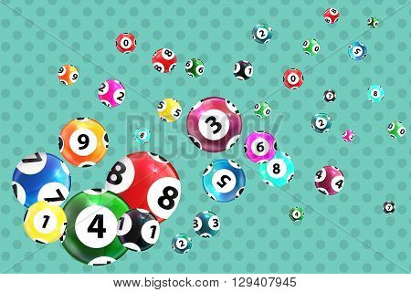 Victory Ball for the game of lottery. Jack pot. Vector Illustration. EPS10