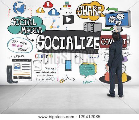Socialize Community Connection Fellowship Group Concept