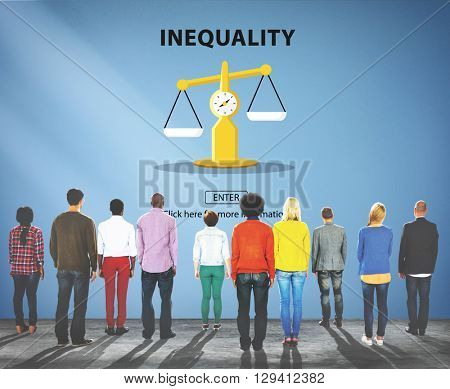 Inequality Imbalance Victims Prejudice Bias Concept poster