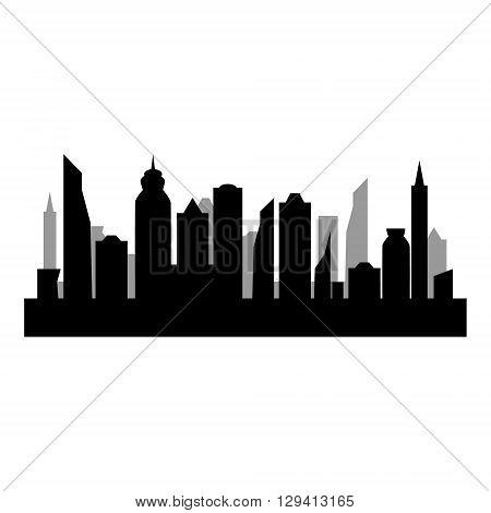 Skycrapers. City skyline. City vector illustration on white background