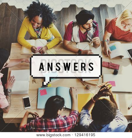 Answer Reply Response Frequently Asked Questions Concept