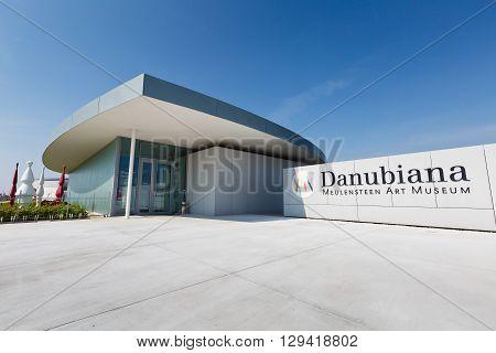 BRATISLAVA, SLOVAKIA - MAY 05, 2016: Danubiana museum of modern art by the river Danube in Bratislava, Slovakia on May 05, 2016.