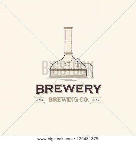 This is vintage beer brewery logo template