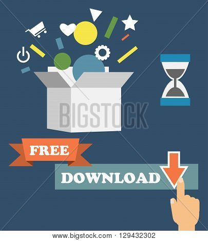 Vector infographics depicting freemium business model - free of charge and free to play apps and games - paying for premium features and services - conceptual illustration in flat style. vector eps10