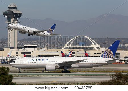 United Airlines Airplanes Los Angeles International Airport