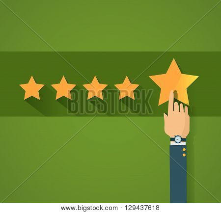 Flat design customer review, vector illustration EPS10