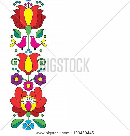 Seamless Kalocsai embroidery - Hungarian floral folk art pattern poster