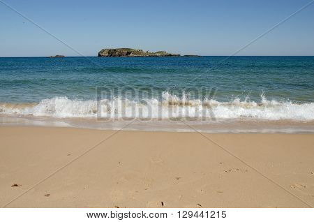 The beach and sea at Sagres in Portugal