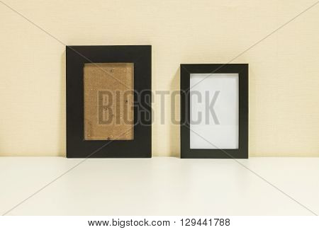 Frame for a photo on wall room background
