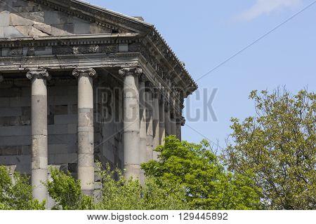 Ancient Garni pagan Temple the hellenistic temple in Armenia